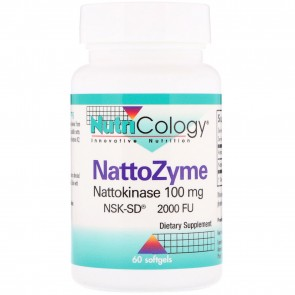 Nutricology Nattozyme Nattokinase 100mg Nsk-Sd(R) 2000 Fu 60 Softgels
