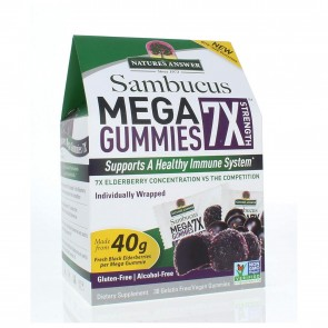 Natures Answer Sambucus Mega Gummies 7X Strength