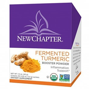 New Chapter Fermented Turmeric Booster Powder Tea Box 30 Sachets