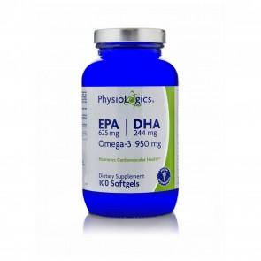 Physiologics EPA 625 mg / DHA 244 mg (Omega-3 950 mg) 100 Softgels