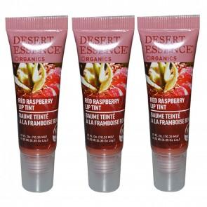 Desert Essence Organics Lip Tint Red Raspberry .35 fl oz 3 Pack