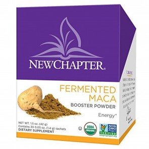 New Chapter Fermented Maca Booster Powder Tea Box 30 Sachets