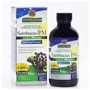 Natures Answer Sambucus PM Nighttime Formula 5000 mg 4 oz