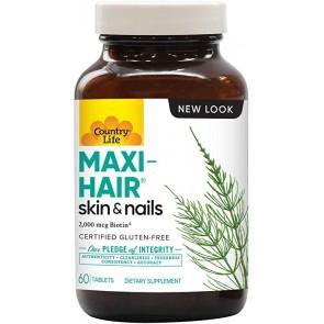 Country Life Maxi-Hair Skin & Nails 2,000 mcg 60 Tablets