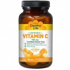 Country Life Vitamin C Wafer 500 Mg 90 Tablets