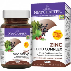 New Chapter Zinc Food Complex 60 Vegetarian Capsules