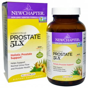 New Chapter Supercritical Prostate 5LX 120 Veggie Capsules