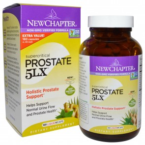 New Chapter Supercritical Prostate 5LX 180 Veggie Capsules
