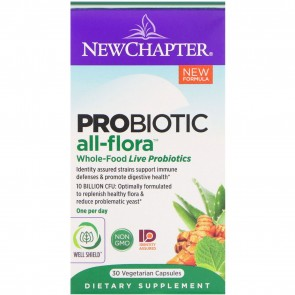 New Chapter Probiotic All-Flora 30 Vegetarian Capsules