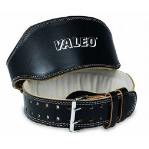 "Valeo 6"" Leather Lifting Belt Black Large (VA4688LG)"