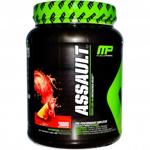 MusclePharm Assault Raspberry Lemonade Powder 32 Servings