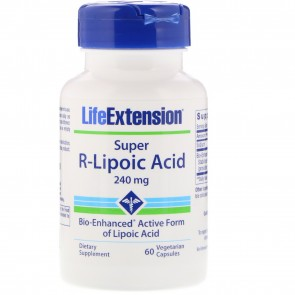 Life Extension Super R-Lipoic Acid 300mg 60 Vegetarian Capsules