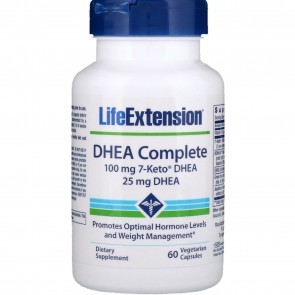 Life Extension DHEA Complete 100mg 7-Keto 60 Vegetarian Capsules