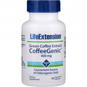 Life Extension Green Coffee Extract 400mg 90 Vegetarian Capsules