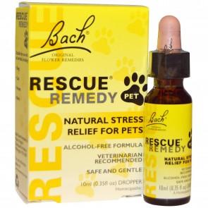 Bach, Original Flower Remedies, Rescue Remedy Pet, Alcohol-Free Formula, 0.35 fl oz (10 ml) Dropper