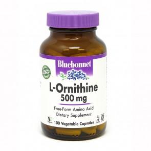 Bluebonnet Nutrition L-Ornithine - 500 mg - 100 Vegetable Capsules