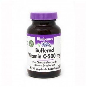 Bluebonnet Buffered Vitamin C 500 Mg 90 Veg Capsules