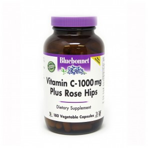 Bluebonnet Vitamin C 1000mg Plus Rose Hips 180