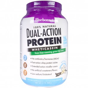 Bluebonnet 100% Natural Dual-Action Protein Powder French Vanilla 2.1 lbs