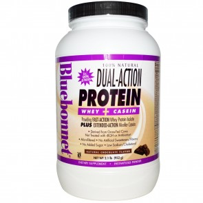Bluebonnet 100% Natural Dual-Action Protein Powder Chocolate 2.1 lbs