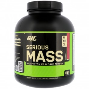 Optimum Nutrition Serious Mass Strawberry 6 lbs