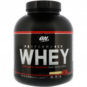 Optimum Nutrition Performance Whey Vanilla Shake 4.19 lbs
