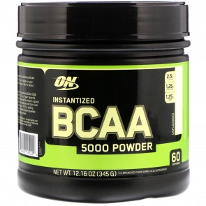 Optimum Nutrition Instantized BCAA 5000 Powder Unflavored 345 Grams 60 Servings