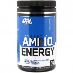 Optimum Nutrition Essential AmiN.O. Energy Blue Raspberry 9.5oz