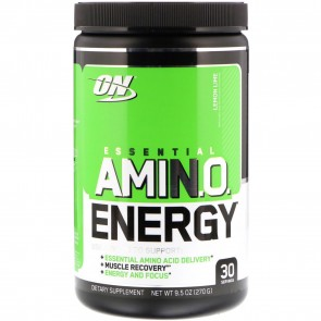 Optimum Nutrition Essential AmiN.O. Energy Lemon Lime 9.5oz (270g) 30 Servings