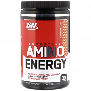 Optimum Nutrition Essential AmiN.O. Energy Strawberry Lime 9.5oz (270g) 30 Servings