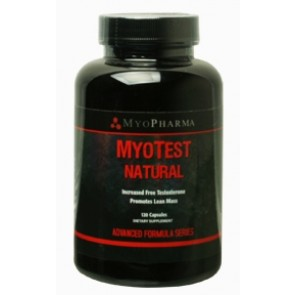 Myopharma MyoTest Natural Post Test 120 Capsules