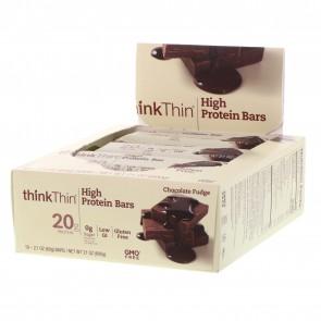 ThinkThin High Protein Bar Chocolate Fudge 10 Bars