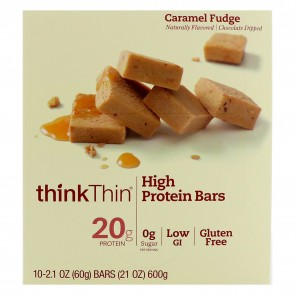 ThinkThin High Protein Caramel Fudge (10 Bars)