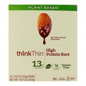 ThinkThin High Protein Sea Salt Almond Chocolate (10 Bars)