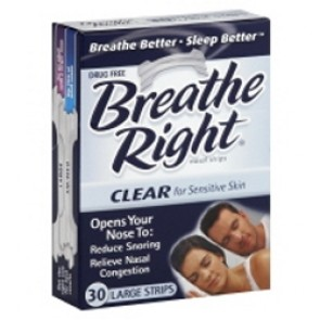 Breathe Right Nasal Strips Clear Large, 30 Count