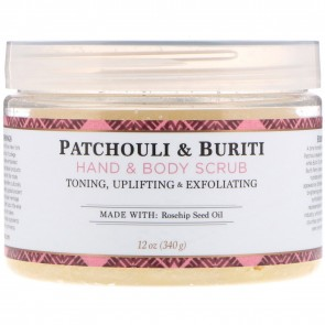 Nubian Heritage Hand & Body Scrub Patchouli & Buriti with Shea Butter & Rose Hips 12 oz