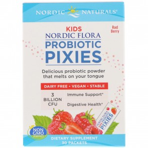 Nordic Naturals Nordic Flora Kids Probiotic Pixies Rad Berry 3 Billion CFU 30 Packets