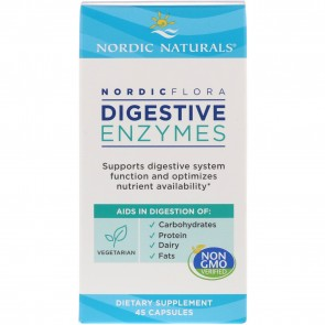Nordic Naturals Nordic Flora Digestive Enzymes 45 Capsules
