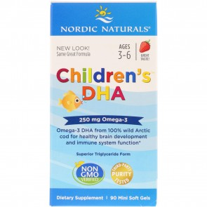 Nordic Naturals Children's DHA Strawberry Flavored 90 Softgels