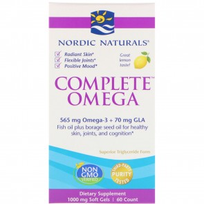 Nordic Naturals Complete Omega Lemon Flavored 60 Softgels