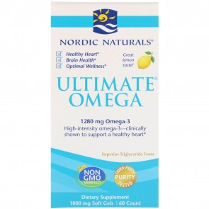 Nordic Naturals Ultimate Omega Lemon Flavored 60 Softgel