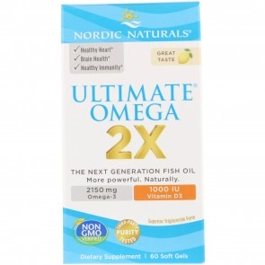 Nordic Naturals Ultimate Omega 2x with D3 60 Capsule