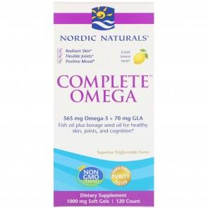 Nordic Naturals Complete Omega Lemon Flavored 120 Softgels