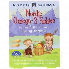 Nordic Naturals Omega-3 Fishies Yummy Tutti Frutti Taste 36 Fishies