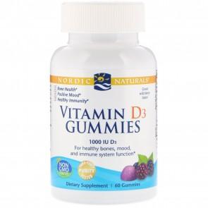 Nordic Naturals Vitamin D3 Gummies Wild Berry Flavored 60 Gummies