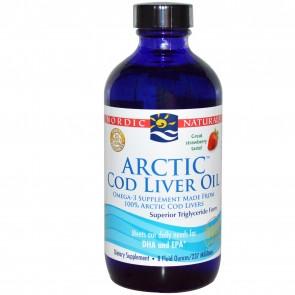Nordic Naturals Arctic Cod Liver Oil Strawberry Flavored 8 fl oz