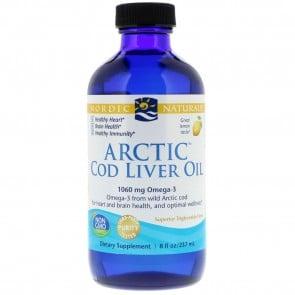 Nordic Naturals Arctic Cod Liver Oil Lemon Flavored 8 fl oz