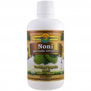 Dynamic Health Laboratories Organic Certified Noni Juice from Tahiti, Raspberry Flavor, 32 fl oz (946 ml)