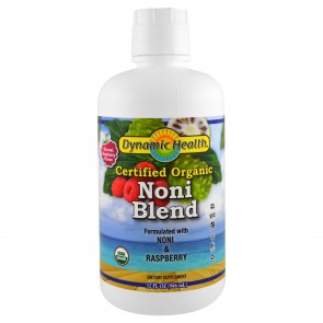 Dynamic Health Laboratories Organic Certified Noni Juice from Tahiti Raspberry Flavor 32 fl oz (946 ml)