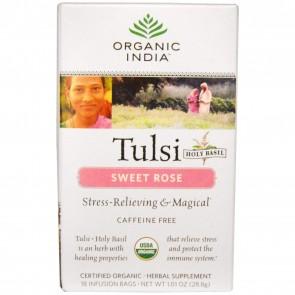 Organic India Tulsi Tea Sweet Rose 18 bags